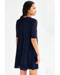 Kimchi Blue | Blue Fluffy Trapeze Dress | Lyst