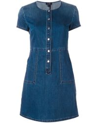 Armani Jeans | Blue Shortsleeved Denim Dress | Lyst