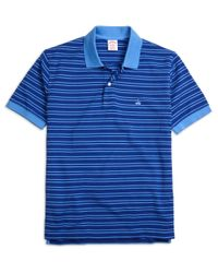 Brooks Brothers | Blue Original Fit Thin Double Stripe Polo Shirt for Men | Lyst