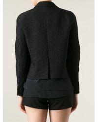 Dries Van Noten | Black Patterned Short Blazer | Lyst
