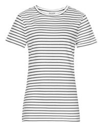 Reiss | White Toulouse Striped Jersey T-shirt | Lyst