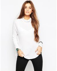 Free People | Thermal Kristina Roll Neck Top In White | Lyst