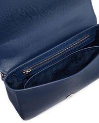 Tory Burch - Blue Robinson Floral Laser-Cut Shoulder Bag - Lyst