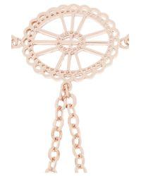 Arme De L'Amour | Pink Rose Gold-Plated Finger Bracelet | Lyst