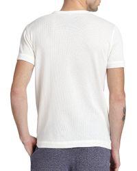 YMC - White Mesh T-shirt for Men - Lyst