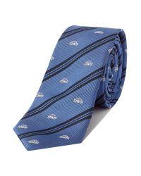 Simon Carter | Blue Patterned Tie for Men | Lyst