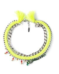 Joomi Lim | Green Chain Braided Necklace | Lyst