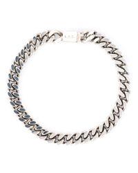 A.P.C. | Gray 'jarvis' Bracelet | Lyst