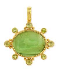 Elizabeth Locke - Green Horse With Sleeping Maiden Antique 19K Gold Intaglio Pendant - Lyst