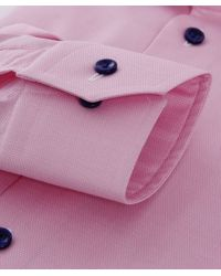 Eton of Sweden - Pink Contemporary Fit Contrast Button Shirt for Men - Lyst