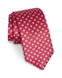 Robert Talbott | Red Medallion Silk Tie for Men | Lyst