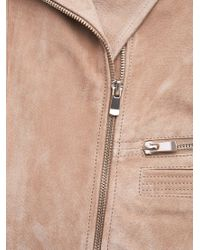 Mango | Natural Zip Detail Suede Jacket | Lyst