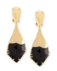 Alexis Bittar | Black Miss Havisham Fancy Kite Clip-on Earrings | Lyst