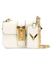 Valentino - White 'b-rockstud' Shoulder Bag - Lyst