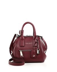 Marc Jacobs | Purple Incognito Mini Textured Leather Top-handle Bag | Lyst