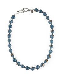 Shebee | Blue Skull Necklace | Lyst
