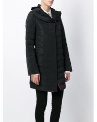 Emporio Armani - Black Hooded Quilted Jacket - Lyst