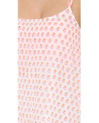 Juliet Dunn - Camisole Dress Neon Orangeneon Pink - Lyst