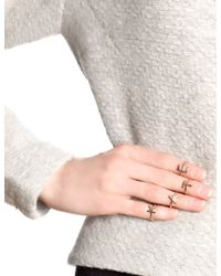 Bjorg | Pink Rose Gold Alphabet Rings G - L | Lyst