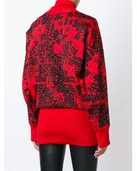 Loewe - Black Jacquard Knit Turtle Neck Sweater - Lyst