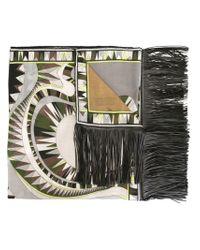 Emilio Pucci - Multicolor Graphic Print Scarf - Lyst