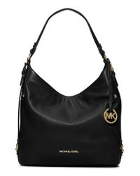 MICHAEL Michael Kors | Black Large Bedford Leather Shoulder Bag | Lyst