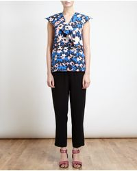 Marni - Blue Dancer Print Pussybow Blouse - Lyst