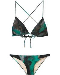Vivienne Westwood Anglomania | Green 'eve' Bikini | Lyst