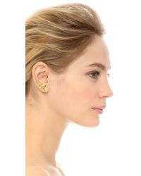 Pamela Love | Metallic Stardust Ear Climber & Stud Earring - Antique Gold | Lyst