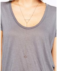 SELECTED - Metallic Trina Triangle Drop Necklace - Lyst