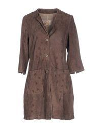 Vintage De Luxe - Gray Full-length Jacket - Lyst