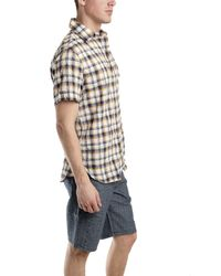 Rag & Bone - Natural Short Sleeve 3/4 Placket Shirt In Blue for Men - Lyst