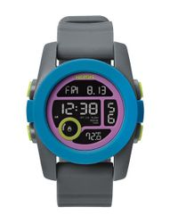Nixon | Gray 'the Unit 40' Round Digital Watch | Lyst