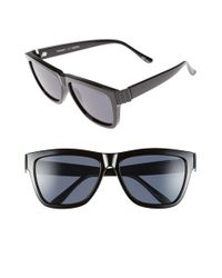Le Specs | Black 57mm Flat Top Sunglasses | Lyst