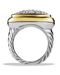 David Yurman | Metallic Waverly Ring With Diamonds & Gold | Lyst