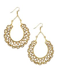 Nakamol | Metallic Scallop-beaded Horseshoe Drop Earrings | Lyst