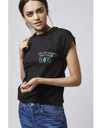 TOPSHOP - Black Girls Just Wanna Tee By Tee And Cake - Lyst