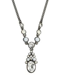 Givenchy | Hematite-Tone & White Necklace | Lyst