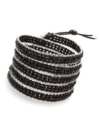 Nakamol | Multicolor Littie Wrap Bracelet-black/silver | Lyst