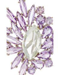Ana Khouri - Purple 18K Yellow Gold Prasiolite And Amethyst Brigitte Earrings - Lyst
