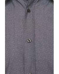 HUGO - Gray Slim-fit Shirt In Cotton: 'elisha' for Men - Lyst