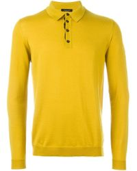 Roberto Collina - Yellow Polo Sweater for Men - Lyst