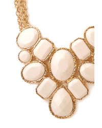 Forever 21 - White Forget-me-not Statement Necklace - Lyst