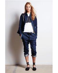 Tomas Maier | Blue Denim Frayed Jacket | Lyst