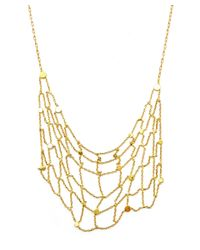 Sia Taylor | Metallic Gold Seed Grid Necklace | Lyst