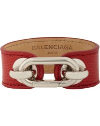 Balenciaga | Red Lizard Skin Bracelet-Colorless | Lyst