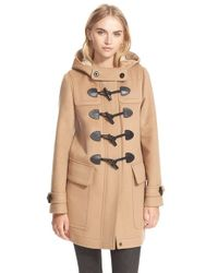 Burberry Brit | Natural 'finsdale' Wool Duffle Coat | Lyst