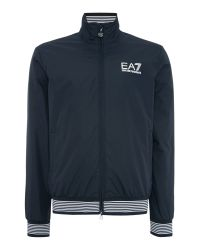 EA7 | Blue Casual Showerproof Full Zip Windbreaker for Men | Lyst