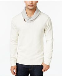 Weatherproof | White Vintage Shawl-collar Sweater for Men | Lyst