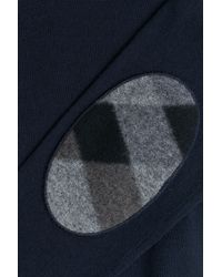 Burberry Brit | Wool Pullover With Elbow Patches - Blue for Men | Lyst